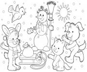 Print kids winter 7cb8 coloring pages