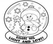 Print snow globe winter s7cae coloring pages
