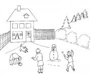 Printable winter snowball53e1 coloring pages