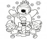 Print winter s north pole printable977d coloring pages