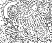 adult zen anti stress zen and love  coloring pages