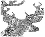 Printable adult coloring pages deer coloring pages
