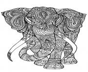 Printable adult coloring pages elephant coloring pages