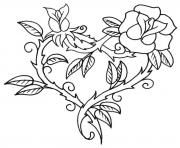 heart flour love valentin day coloring pages