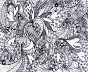 adult heart love valentin day coloring pages
