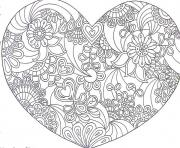 heart love valentin day 2016 coloring pages