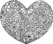 adult mandala heart love 2016 coloring pages