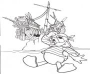 Printable donald as a pirate 6625 coloring pages