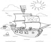 Printable pirate and sharks5f86 coloring pages