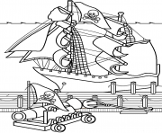 Print cannon of pirates e14493861659754f2a coloring pages