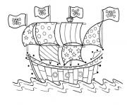 Printable cool boat of pirateeed3 coloring pages