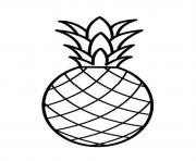 Printable fruit pineapple  free8fdc coloring pages