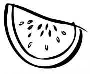 Print sliced watermelon fruit sbe4b coloring pages