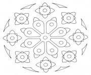 Printable simple printable mandala sc107 coloring pages