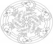 Printable moose mandala sdc85 coloring pages