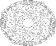 Print sun moon and stars mandala s2ada coloring pages