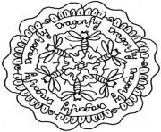 Print dragonfly mandala s9470 coloring pages