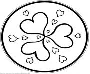 Print mandala s hearts9eca coloring pages