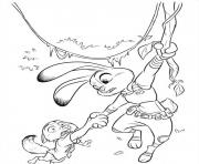 Zootopia 14 Colouring Print Coloring Pages Nick Wilde Judy Hopps