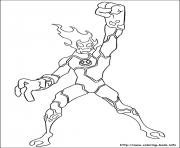 dessin ben 10 19 coloring pages