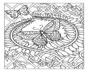 Printable zen antistress free adult 15 coloring pages
