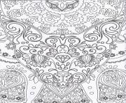 Printable zen antistress free adult 4 coloring pages