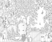 Printable Grown Up Secret Garden Coloring Pages