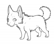 cartoon wolf puppy