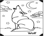 wolf and moon coloring pages