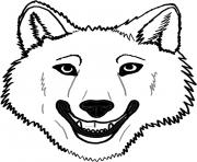 Printable wolf face coloring pages