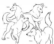 wolf pack team coloring pages