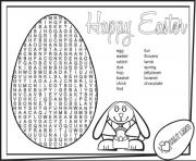 Easter eggs printablegames coloring pages