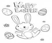 Print Happy Easter Picture coloring pages