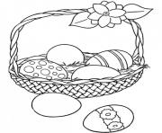 easter eggs basket coloring pages