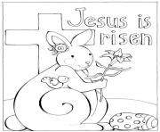 Printable easter jesus coloring pages
