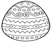 Printable simple egg easter coloring pages