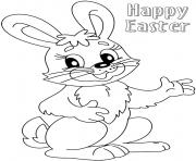 Printable cute easter bunny colouring 2016 coloring pages