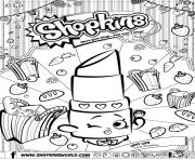 Superior Shopkins Lippy Lips Coloring; Shopkins For Kids Coloring Pages