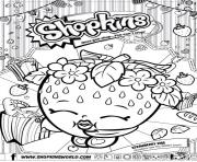 Printable shopkins strawberry kiss coloring pages