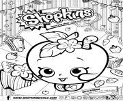 shopkins apple blossom Coloring Pages