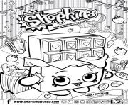 Printable shopkins cheeky chocolate coloring pages