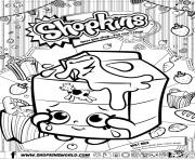 Printable shopkins split milk coloring pages