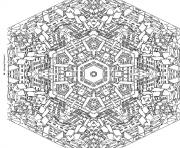 city buildings in a mandala coloring pages