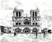 city drawing notre dame coloring pages