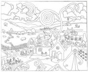 fantasy city s3d8d coloring pages
