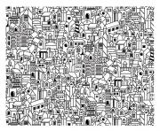 architecture big city coloring pages