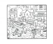 Printable crowded city s9cb6 coloring pages