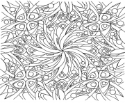 Printable detailed flowers adults coloring pages