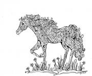 Printable adults difficult animals horse printable hd coloring pages