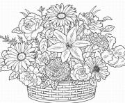 cute flower adult coloring pages